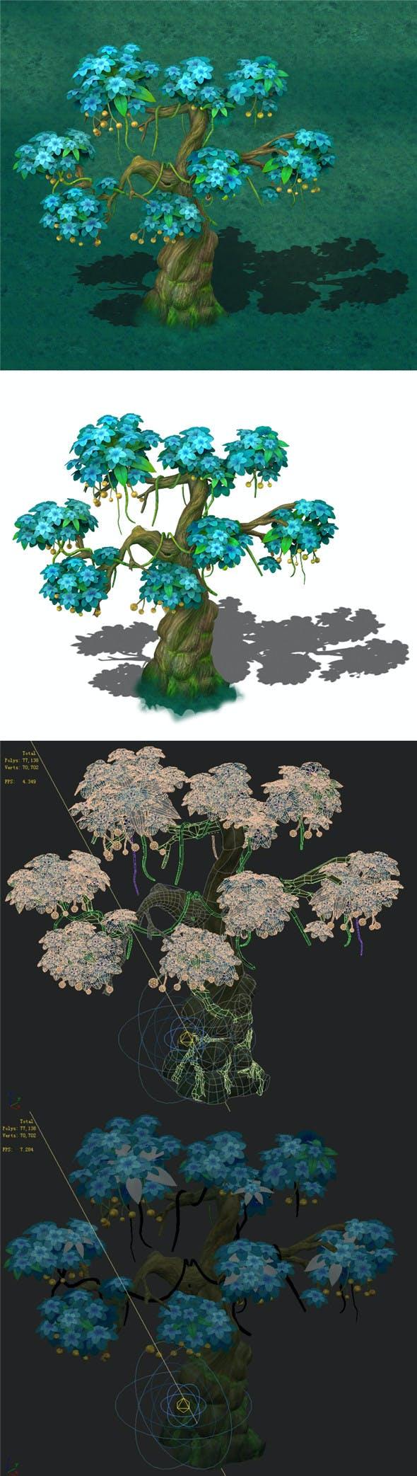 Cartoon version - wonderful fruit tree 04 - 3DOcean Item for Sale