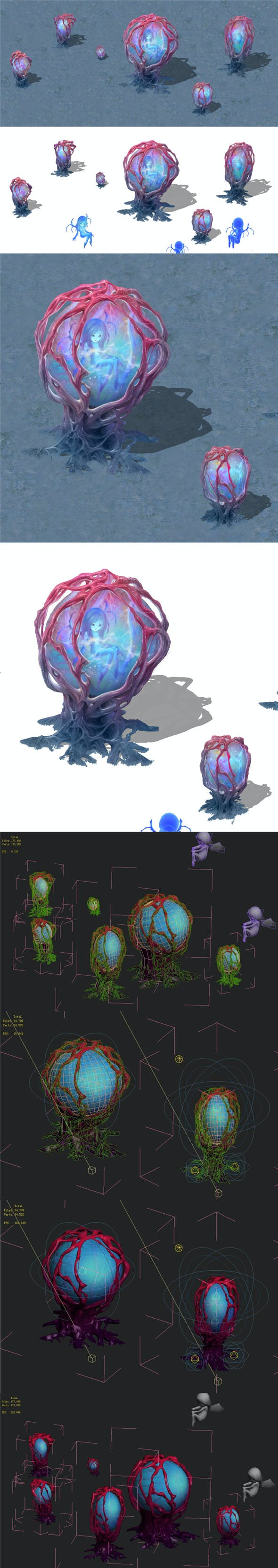 Cartoon version - banshee fetus demon tree 01 - 3DOcean Item for Sale