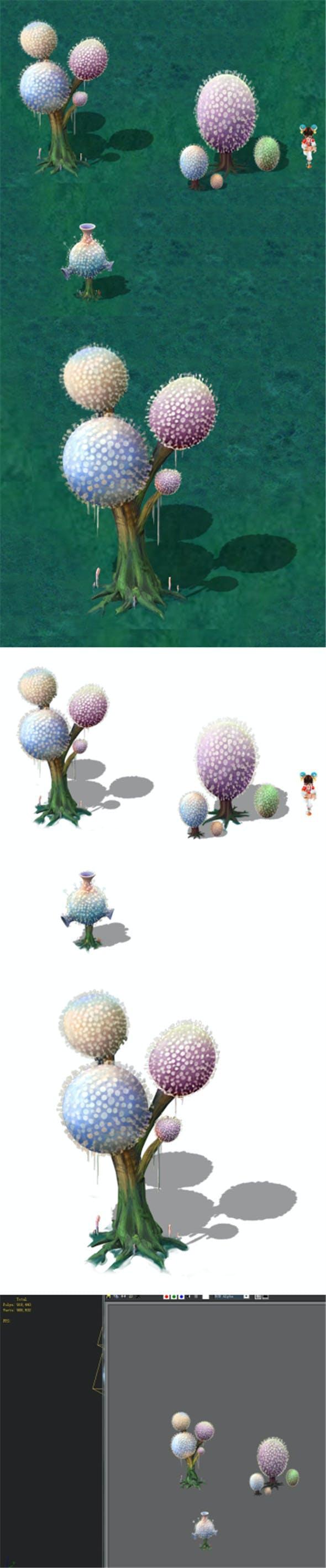 Cartoon version - pompon Spores 02 - 3DOcean Item for Sale