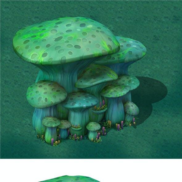 Cartoon Edition - Ancient Nu Wa Mushroom Fossils 01
