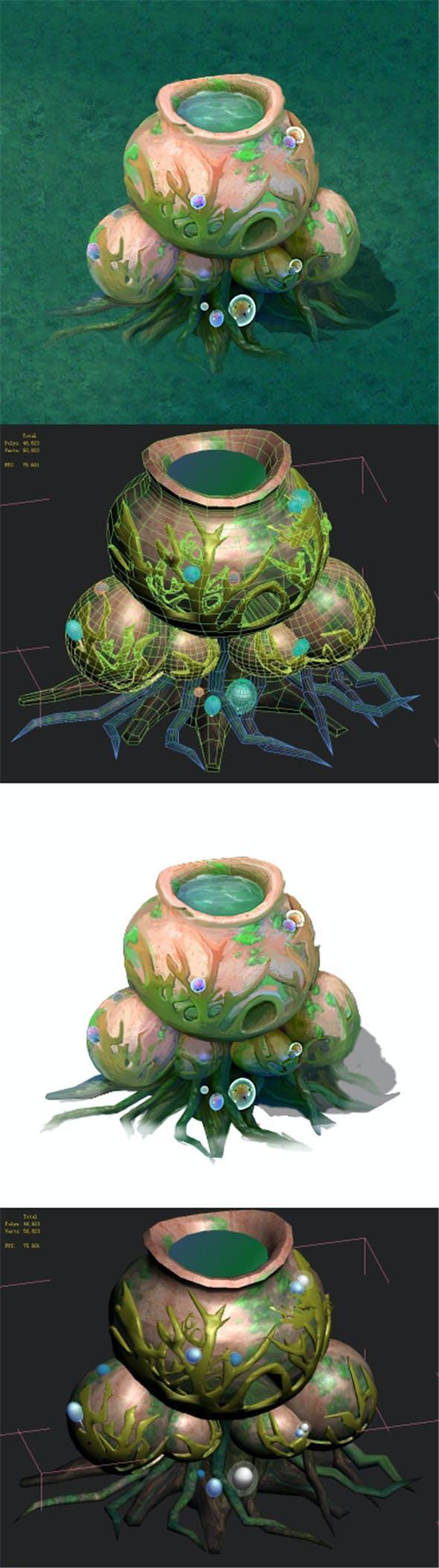 Cartoon version - petrol spores 03 - 3DOcean Item for Sale