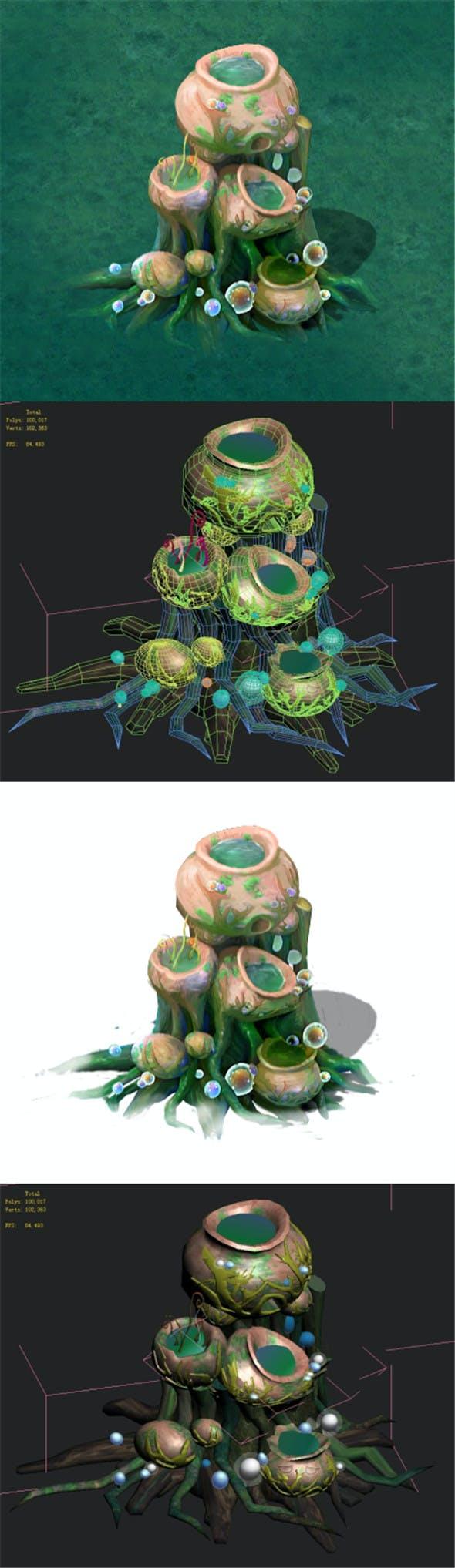 Cartoon version - petrol spores 05 - 3DOcean Item for Sale