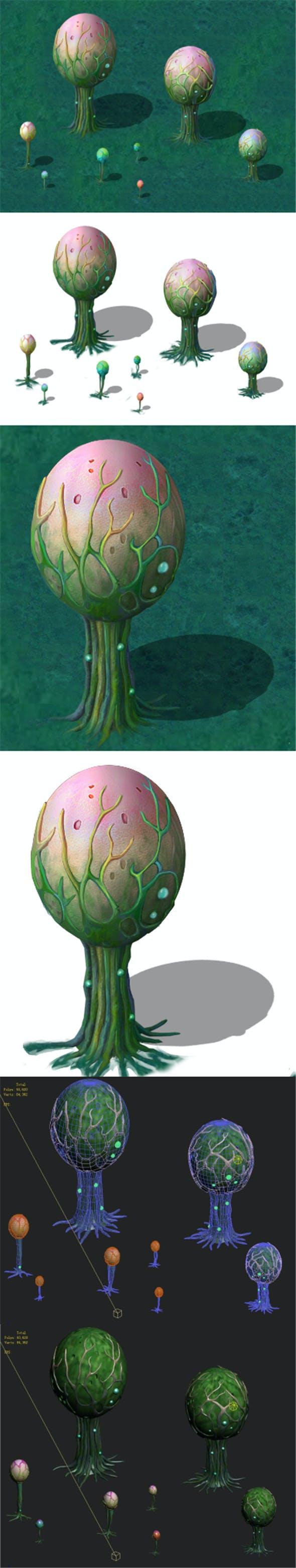 Cartoon version - fine stripe spores - 3DOcean Item for Sale
