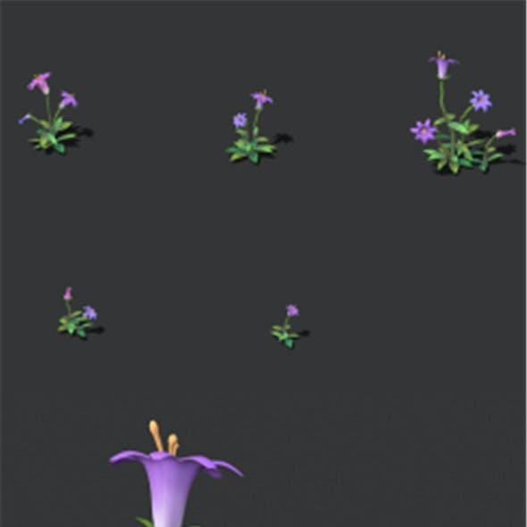 Cartoon version - small flower bark forest