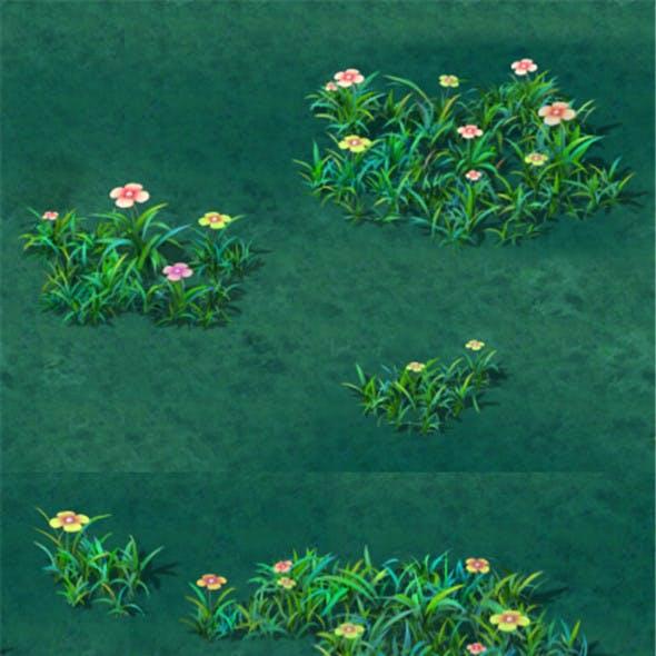 Cartoon version - small wildflower surface
