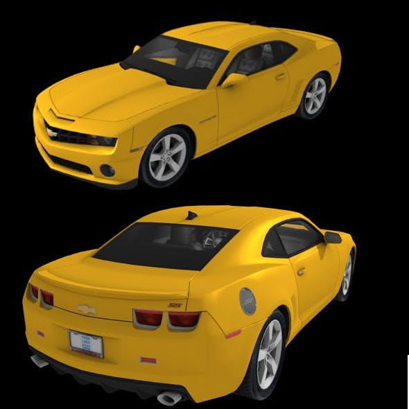 chevrolet camaro SS low poly
