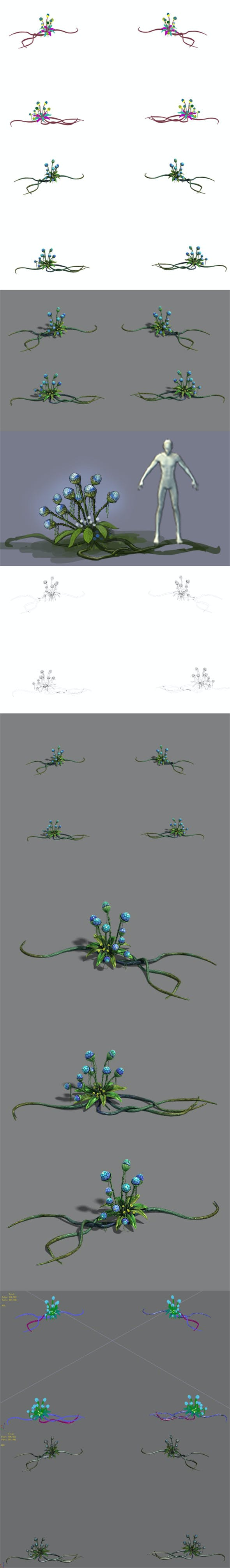 Strange - Flower 2 - 3DOcean Item for Sale