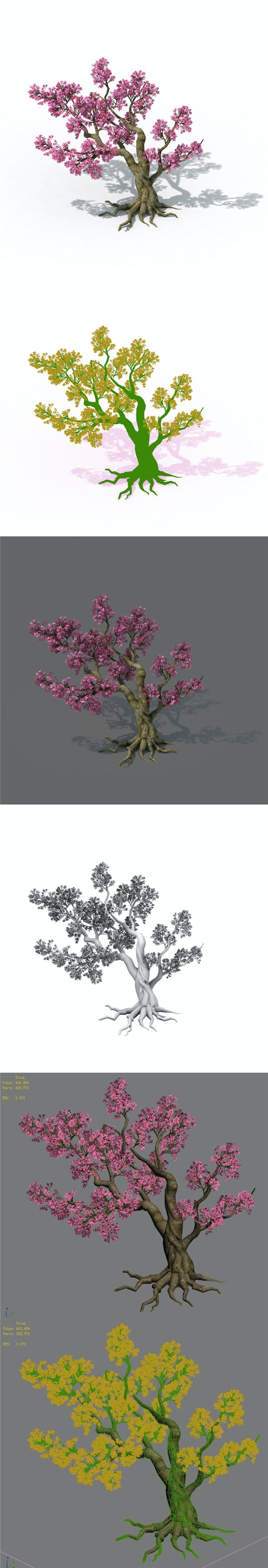 Forest - Peach Blossom Tree 02 - 3DOcean Item for Sale