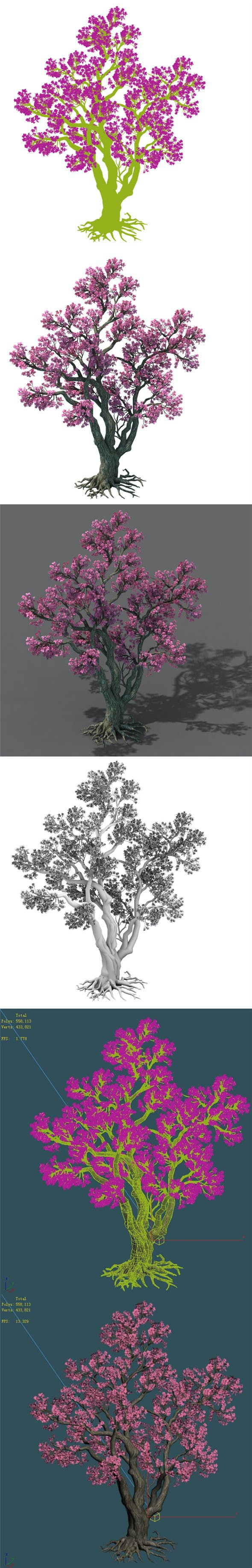 Forest - Peach Tree 03 - 3DOcean Item for Sale