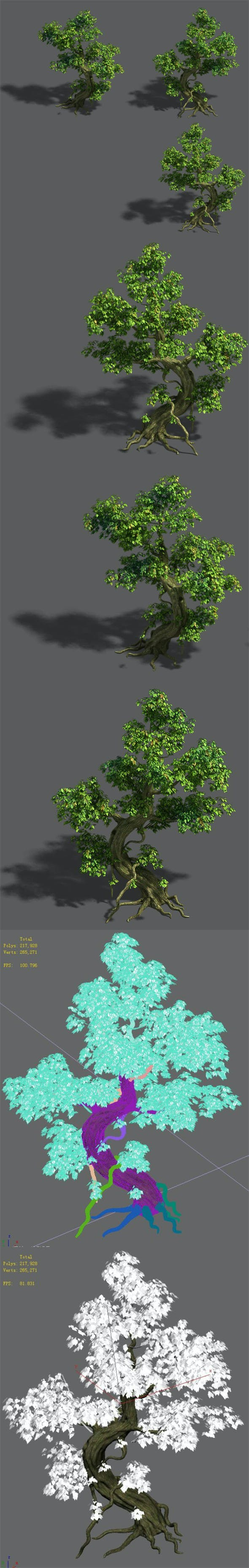 Trees - crooked neck tree - 3DOcean Item for Sale