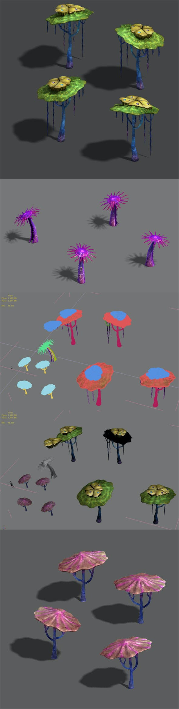 Water cloud Ze - plant - strange mushroom - 3DOcean Item for Sale