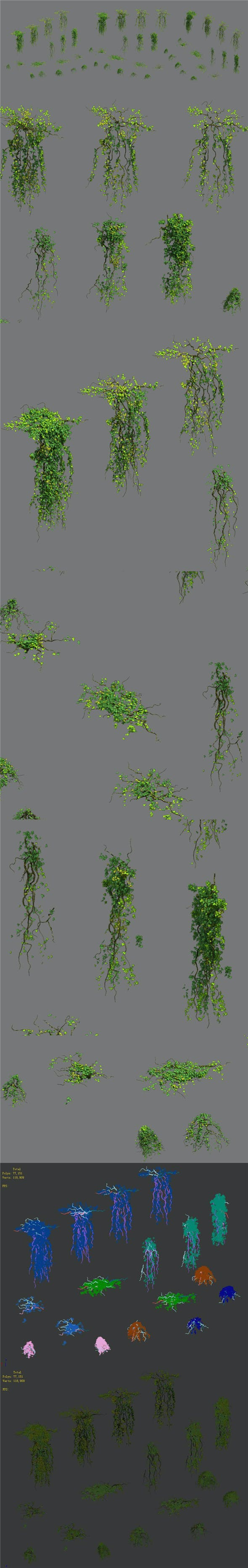 Decoration - vines - 3DOcean Item for Sale