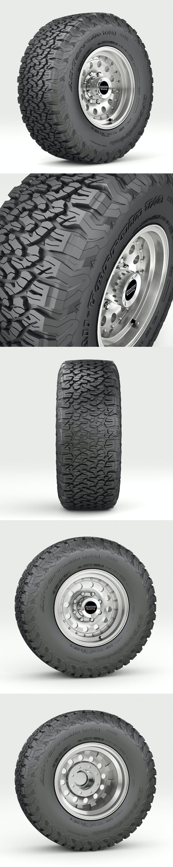 Off Road wheel and tire 5 - 3DOcean Item for Sale