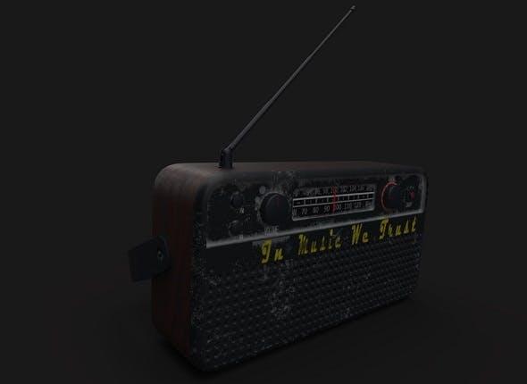 Old radio - 3DOcean Item for Sale