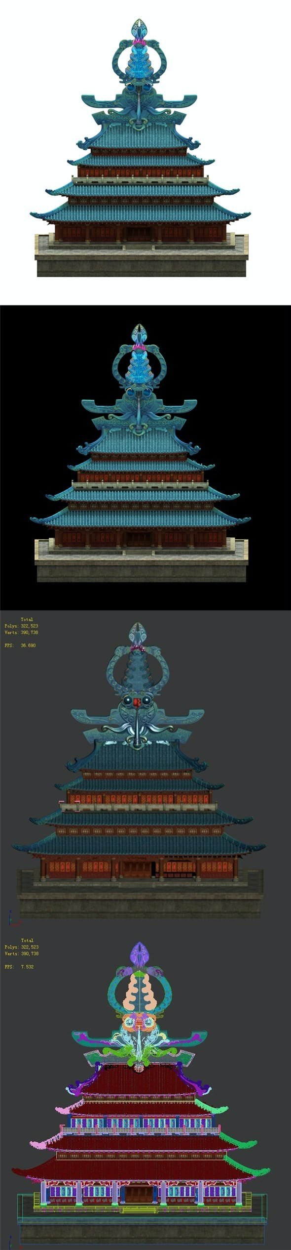 3D selection interface - architecture - 3DOcean Item for Sale