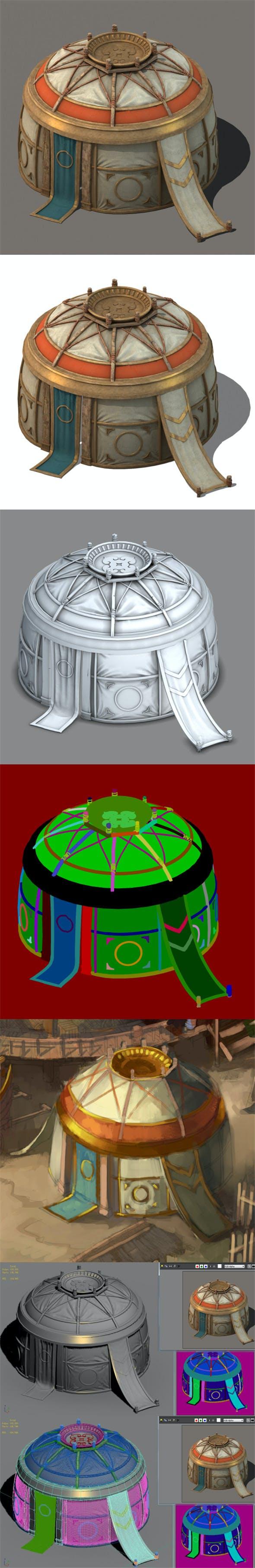 Prairie Architecture - Tent 02 - 3DOcean Item for Sale