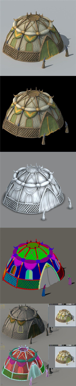 Grassland Building - Tent 04 - 3DOcean Item for Sale