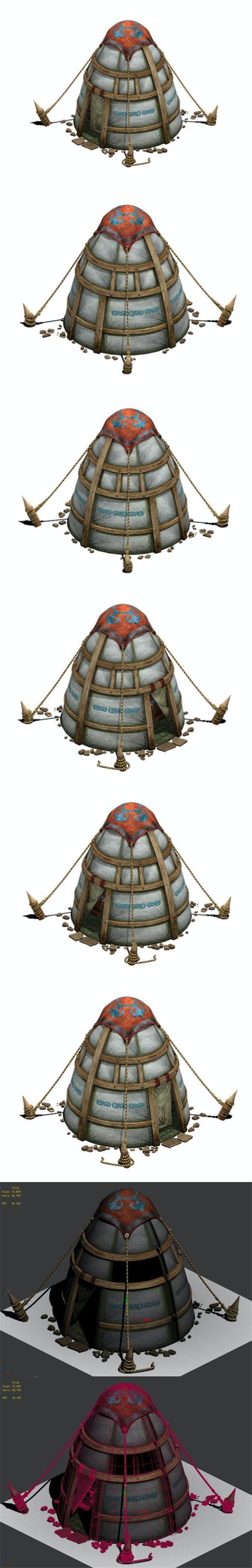 Prairie - tent - obo - 3DOcean Item for Sale