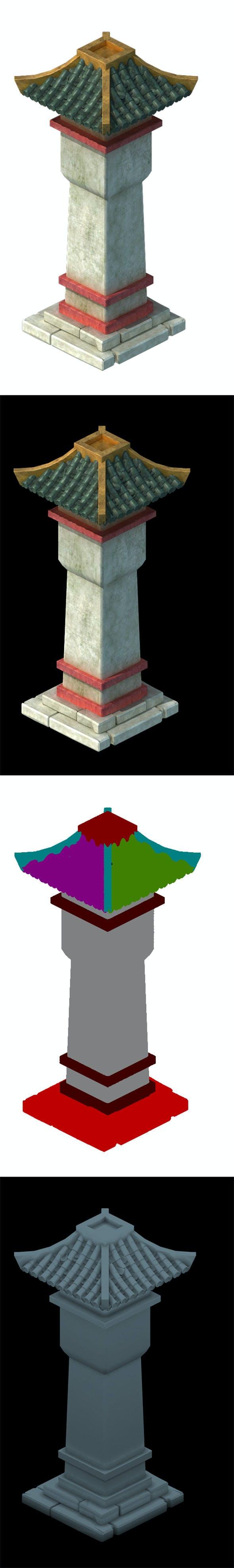 City Building - City Post - 3DOcean Item for Sale