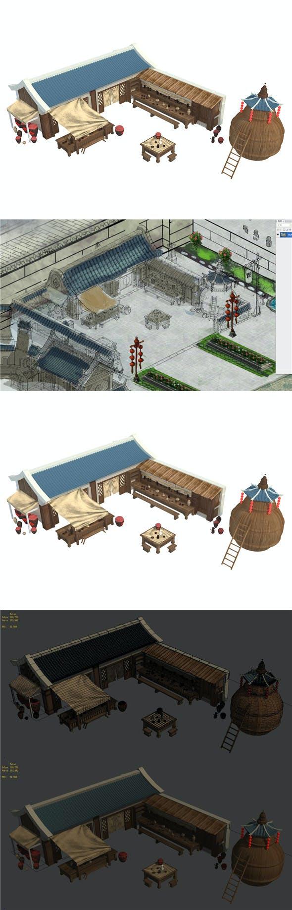 City Building - Pub 032 - 3DOcean Item for Sale