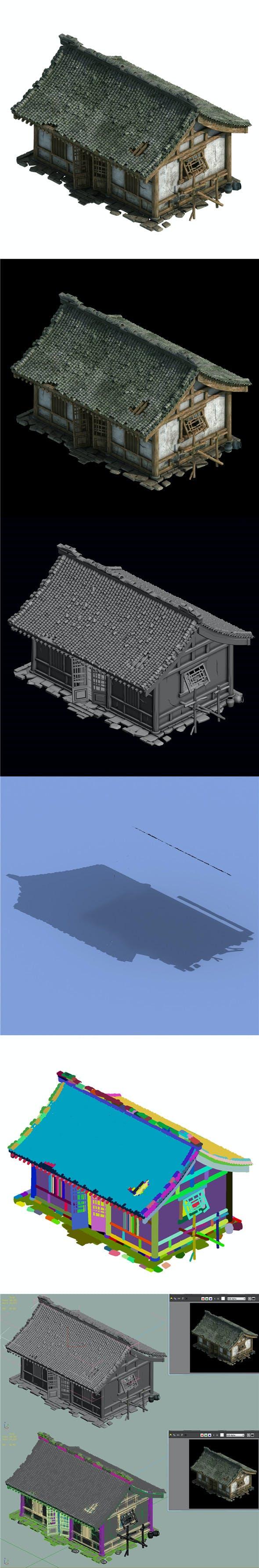 City Building - Broken House - 3DOcean Item for Sale