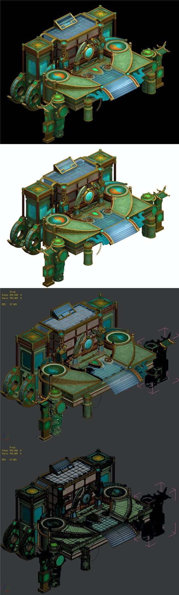 City Building - Temple - 3DOcean Item for Sale