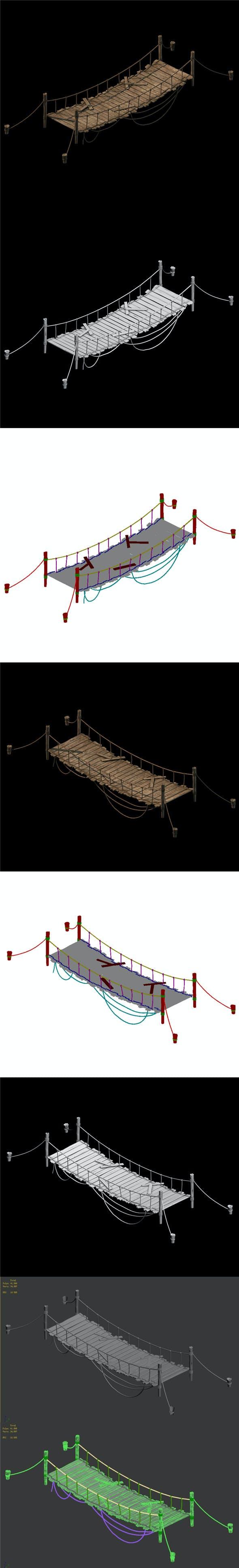 Sling - Wooden Bridge 03 - 3DOcean Item for Sale