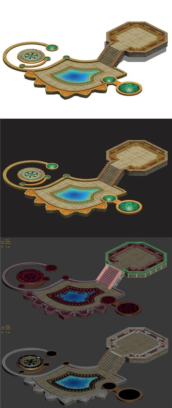 Cave - platform ground - 3DOcean Item for Sale