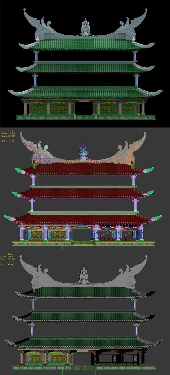 Cave - System Building 02 - 3DOcean Item for Sale