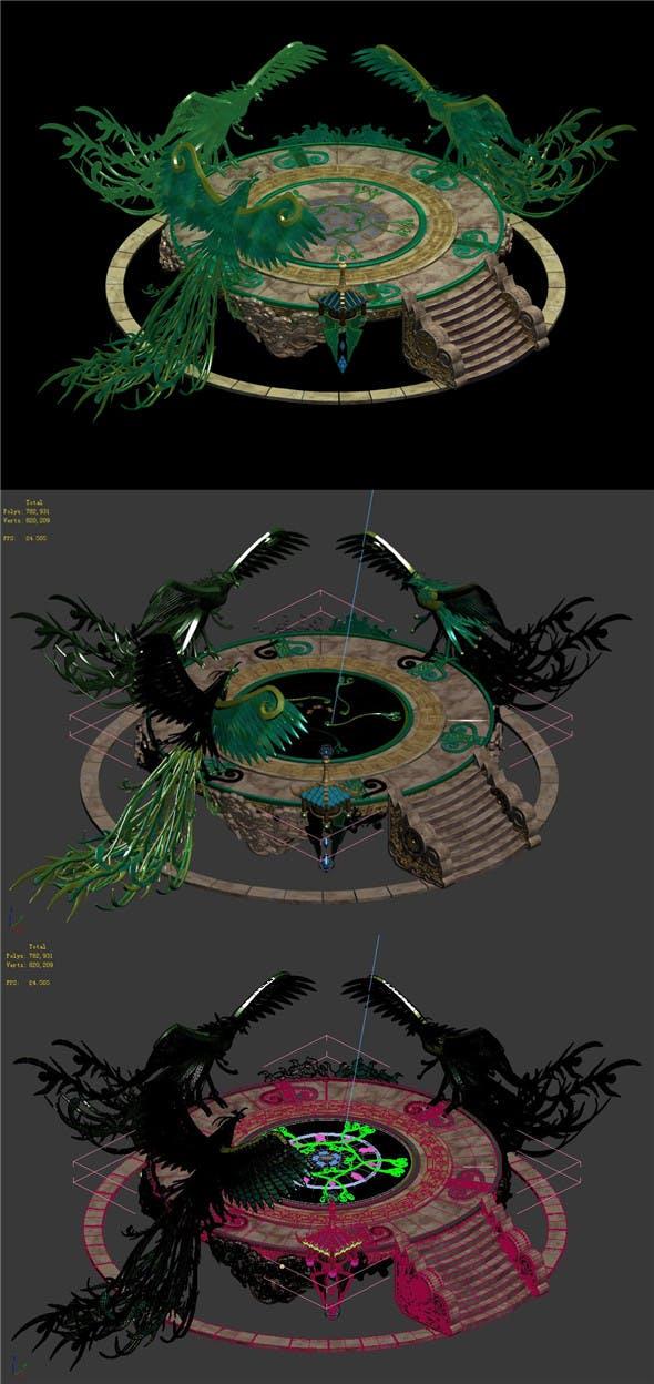 Phoenix - transmission platform 02 - 3DOcean Item for Sale