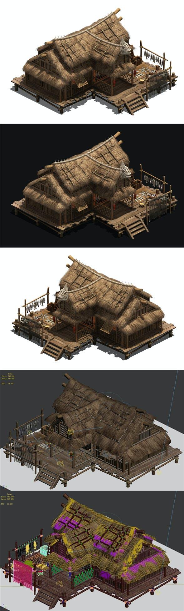 Seaside Village - Fisherman Cottage - 3DOcean Item for Sale