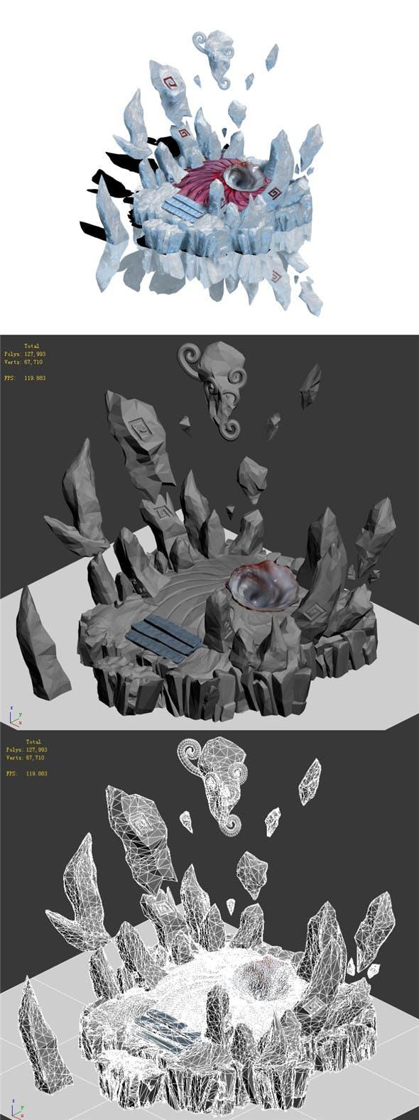 Submarine - demon hole entrance - 3DOcean Item for Sale