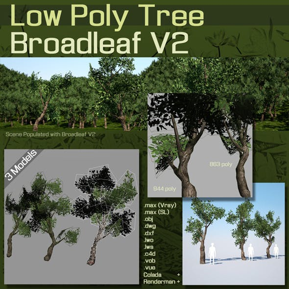 Low Poly Tree :  Broadleaf V2