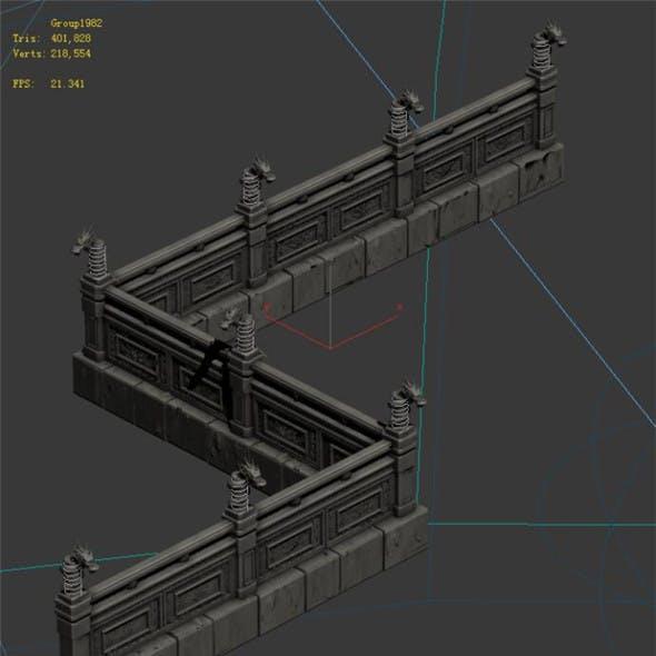 Huanglongshan - stone chamber railings