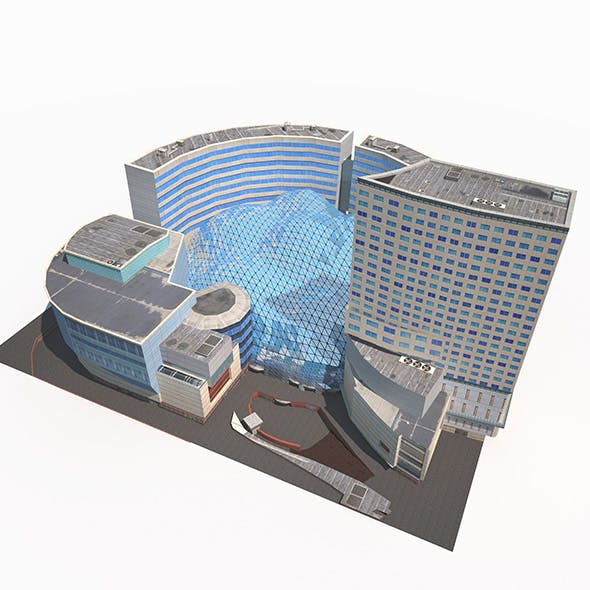 Office Mall Building Low Poly