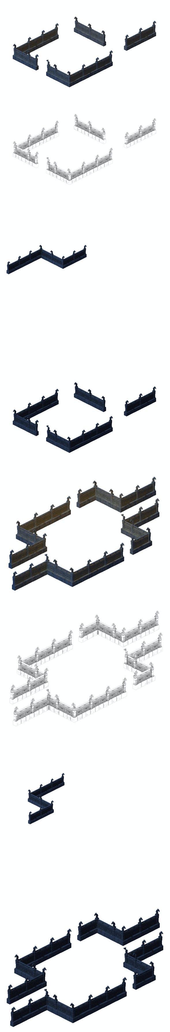 Huanglongshan - Stone Chamber Railing 02 - 3DOcean Item for Sale
