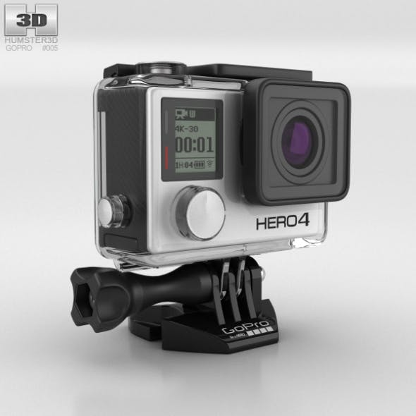 GoPro HERO4 Silver - 3DOcean Item for Sale