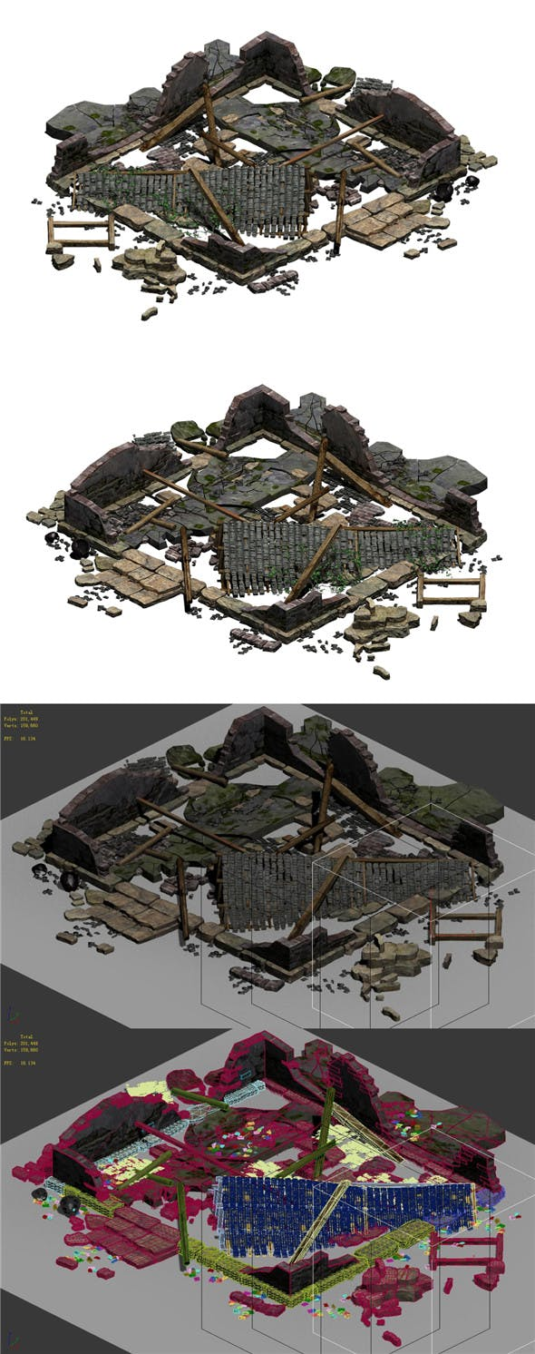 Building - ruins 001 - 3DOcean Item for Sale