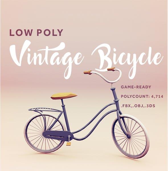 Low Poly Vintage Bicycle - 3DOcean Item for Sale