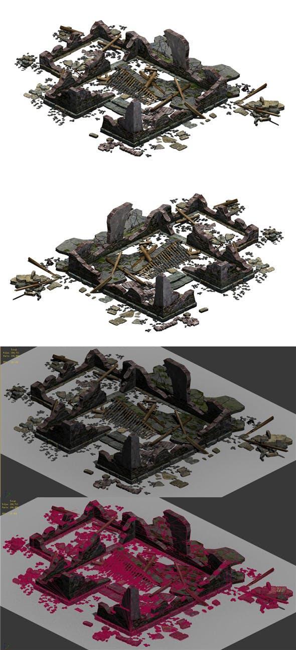 Building - ruins 003 - 3DOcean Item for Sale