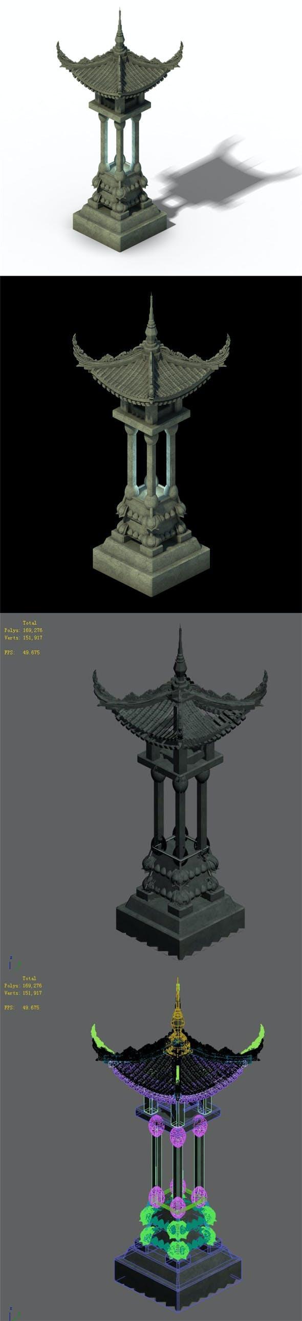 Architecture - Windland Prairie - Stone Lamp 02 - 3DOcean Item for Sale