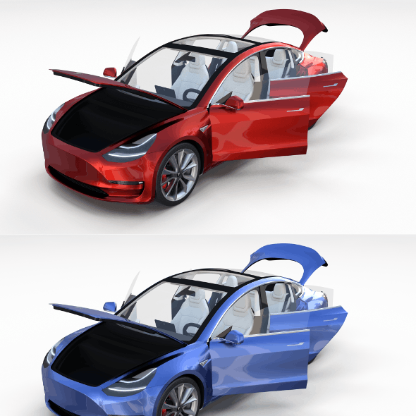 Tesla Model 3 with interior Pack