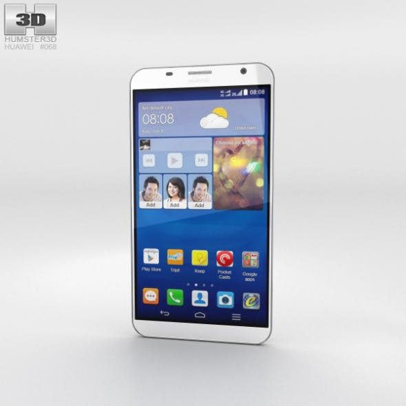 Huawei Ascend GX1 White - 3DOcean Item for Sale