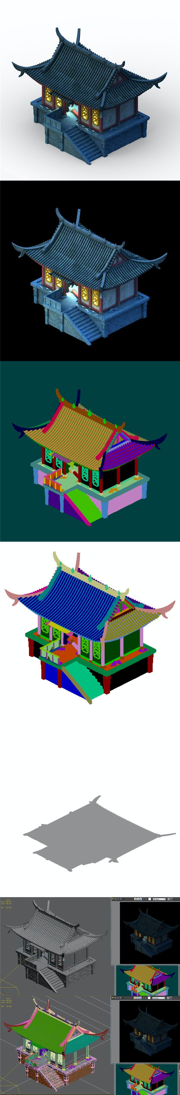 Building ghost house - haunted house 01 - 3DOcean Item for Sale