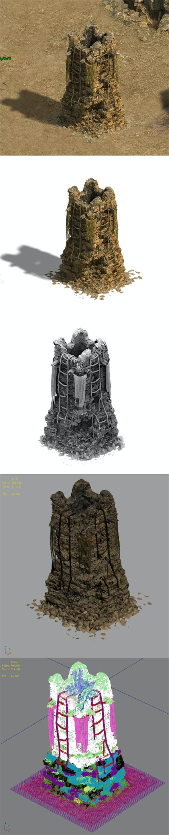 Barracks - beacon 02 - 3DOcean Item for Sale