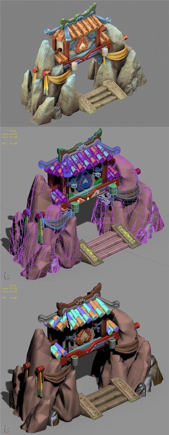 Cartoon World - Mountain Gate 02 - 3DOcean Item for Sale