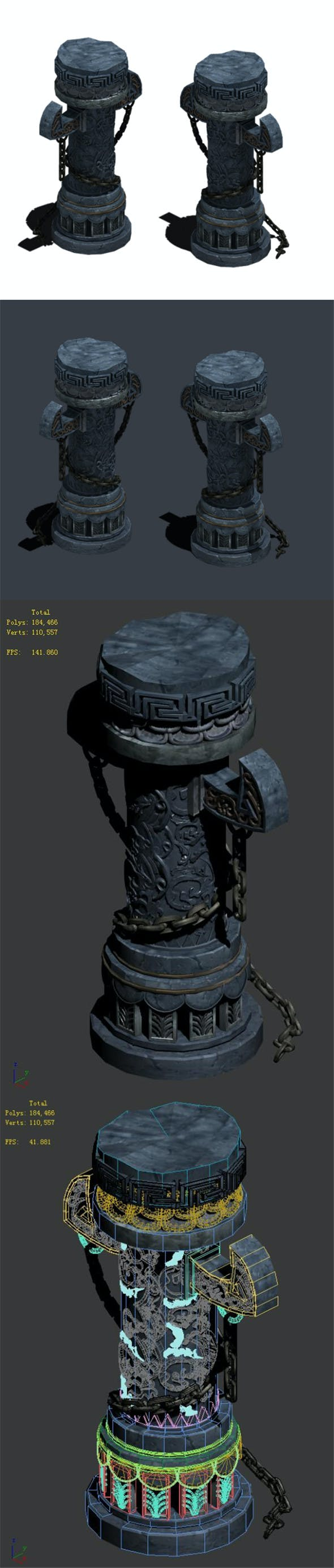 Trapped dragon cave - pillar 01 - 3DOcean Item for Sale