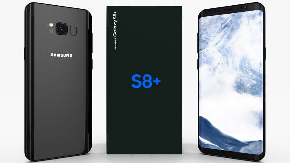 Samsung Galaxy S8+ Midnight Black - 3DOcean Item for Sale