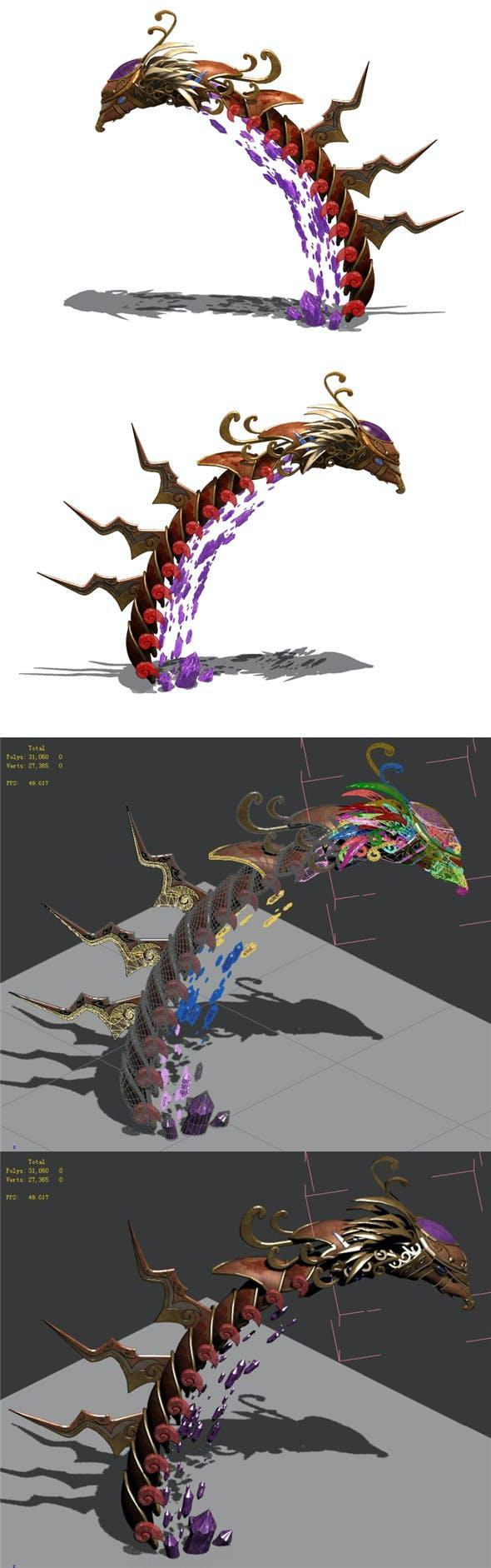 Secret state - Phoenix head - 3DOcean Item for Sale