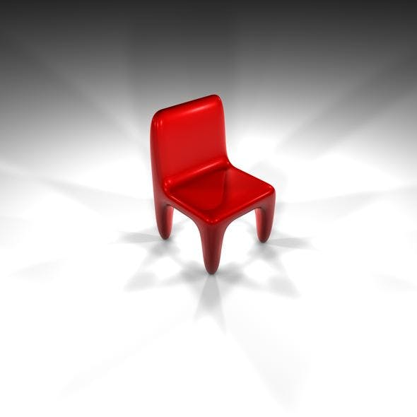 Futuristic Red Chair - 3DOcean Item for Sale